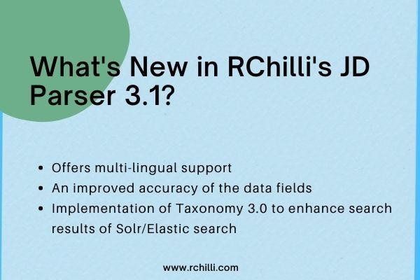 Copy of Whats New in the latest version of RChilli JD Parser