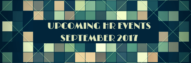 September Upcoming HR Events 2017