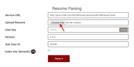 parse resume