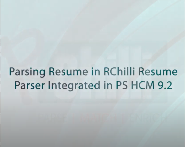 RChilli Resume Parser Integration with PeopleSoft